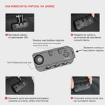 Рюкзак Tigernu T-B3669 Чёрно-серый с USB-портом и отделением для ноутбука 15.6