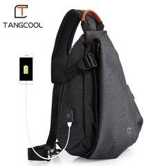 Однолямочный рюкзак Tangcool TC901-L Тёмно-серый