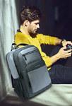 Рюкзак Bange City Серый с USB-портом и отделением для ноутбука 15.6