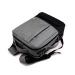 Рюкзак Feesly Серый с USB-портом и встроенным кодовым замком