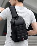 Однолямочный рюкзак Fenro FR5019 с USB-портом и отделением для планшета 9.7
