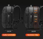 Бизнес рюкзак Fenro FR5111 с USB-портом и отделением для ноутбука 17.3