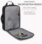 Рюкзак Антивор KAKA-807 Серый с USB портом и отделением для ноутбука 15.6