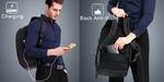 Рюкзак Kingsons KS3140W Чёрный с USB-портом и отделением для ноутбука 17.3 дюйма