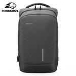 Рюкзак Kingsons KS3149W Тёмно-серый с USB-портом и отделением для ноутбука 15.6 дюймов