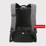 Рюкзак Kingsons KS3187W Серый с USB-портом и отделением для ноутбука 15.6
