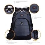 Рюкзак SWISSWIN SW9205 Blue с отделением для ноутбука 15.6 дюймов