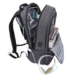 Рюкзак Tigernu T-B3142 Тёмно-серый с USB портом и отделением для ноутбука 17.3 дюйма
