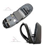 Рюкзак Антивор Tigernu T-B3351 Серый с USB портом и отделением для ноутбука 15.6