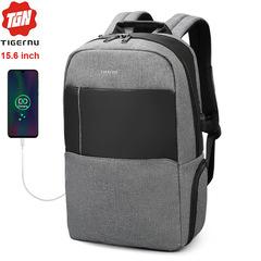 Рюкзак Tigernu T-B3502 Серый с USB-портом и отделением для ноутбука 15.6