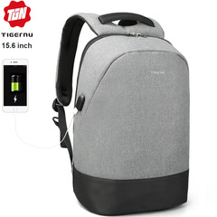 Рюкзак Антивор Tigernu T-B3595 Серый с отделением для ноутбука 15.6 дюймов
