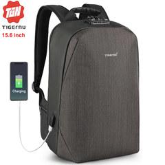 Рюкзак Tigernu T-B3669 Чёрно-коричневый с USB-портом и отделением для ноутбука 15.6