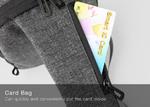 Сумка на одно плечо Kingsons ks3188w Серая с отделением для планшета 9.7