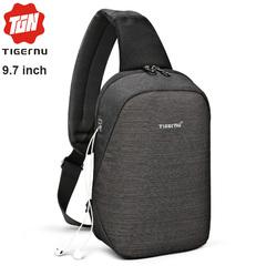 Рюкзак-сумка на одно плечо Tigernu T-S8061 Чёрный с отделением для iPad 9.7 inch