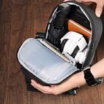 Рюкзак-сумка на одно плечо Tigernu T-S8061 Серый с отделением для iPad 9.7 inch
