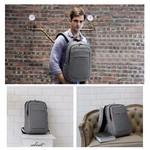 Рюкзак Tigernu T-B3090A Тёмно-серый с USB-портом и отделением для ноутбука 15.6