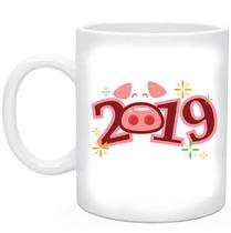 Кружка новогодняя Год Свиньи 2019 №6