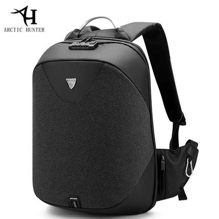 Рюкзак Антивор ARCTIC HUNTER B-00208 Чёрный с USB-портом и отделением для ноутбука 15.6 дюймов
