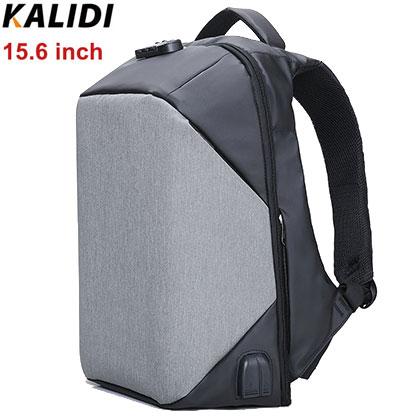 Рюкзак-антивор KALIDI CNM368 Серый с USB портом и отделением для ноутбука 15.6