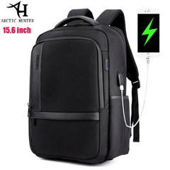 Рюкзак Arctic Hunter B00120N Чёрный с USB-портом и отделением для ноутбука 15.6