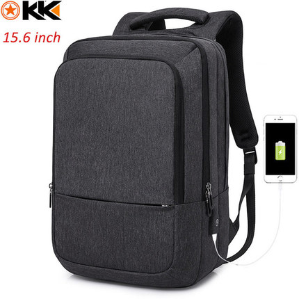 Рюкзак KAKA-17009 Тёмно-серый с USB-портом и отделением для ноутбука 15.6