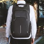 Рюкзак KK-2215 Чёрный с USB портом и отделением для ноутбука 15.6 дюймов