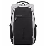 Рюкзак KK-2215 Серый с USB портом и отделением для ноутбука 15.6 дюймов