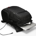 Рюкзак Kingsons KS3140W Чёрный с USB-портом и отделением для ноутбука 19 дюймов