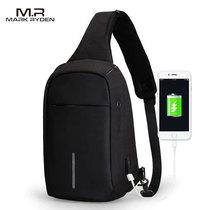 Однолямочный рюкзак Mark Ryden MR5898 Чёрный с USB-портом