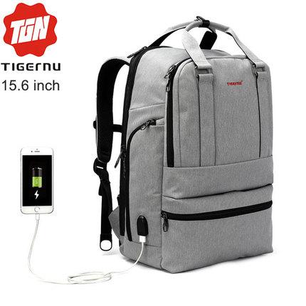 Рюкзак Tigernu T-B3243 Серый с USB портом и отделением для ноутбука 15.6