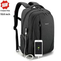 Рюкзак Tigernu T-B3399 Чёрный с USB портом и отделением для ноутбука 15.6 дюймов