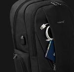 Рюкзак Tigernu T-B3399 Тёмно-серый с USB портом и отделением для ноутбука 15.6 дюймов