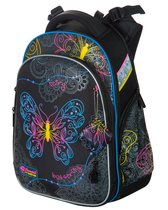 Школьный ортопедический ранец Hummingbird Teens T91 Neon Butterfly