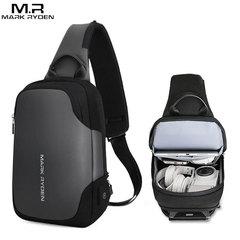 Однолямочный рюкзак Mark Ryden MR7056 Серый с USB-портом