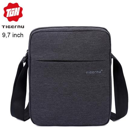 Сумка через плечо Tigernu T-L5102 Тёмно-серая с отделением для планшета 9.7 дюймов