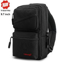 Сумка-рюкзак через плечо Tigernu T-S8050 Чёрная с отделением для iPad 9.7 дюймов