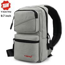 Сумка-рюкзак через плечо Tigernu T-S8050 Серая с отделением для iPad 9.7 дюймов