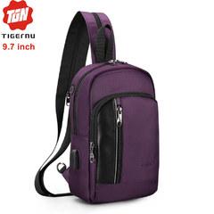 Сумка-рюкзак Tigernu T-S8089 Фиолетовая с USB-портом