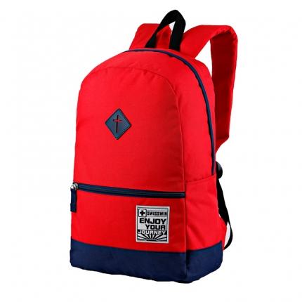 Рюкзак Swisswin swk2008 navy/red с отделением для ноутбука 14 дюймов