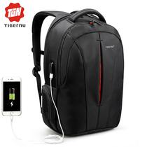 Рюкзак Tigernu T-B3105 с USB портом Чёрно-оранжевый